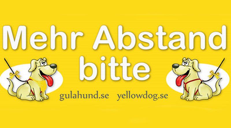 """""""Gelber Hund braucht Freiraum"""""""