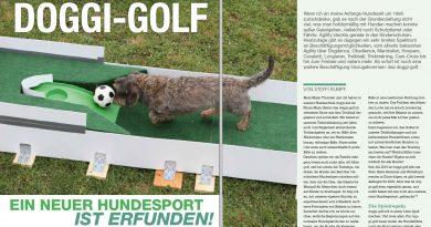 doggi-golf. Ein neuer Hundesport ist erfunden!